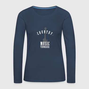 musique country tennessee - T-shirt manches longues Premium Femme