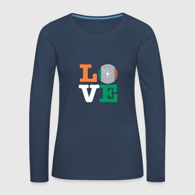 IRELAND HEART - Women's Premium Longsleeve Shirt