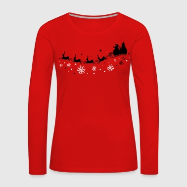 Santa Claus with sleigh and reindeer - Women's Premium Longsleeve Shirt