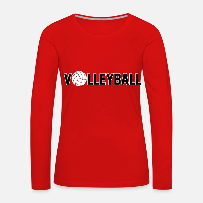 Volleyball Manches longues - Volleyball - T-shirt manches longues premium Femme rouge