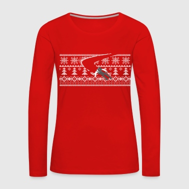 skier Norwegian sweater pattern - Women's Premium Longsleeve Shirt