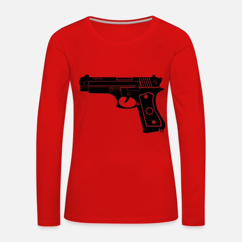 Gun Long Sleeve Shirts - Pistal - Women's Premium Longsleeve Shirt red