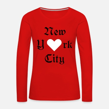 New York City New York City, York, New York, City, Valentine's Day, ILove - Women's Premium Longsleeve Shirt