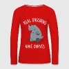 Real unicorns have curves - Vrouwen Premium shirt met lange mouwen