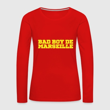 Bad Boy Marseille Use Jaune - T-shirt manches longues Premium Femme