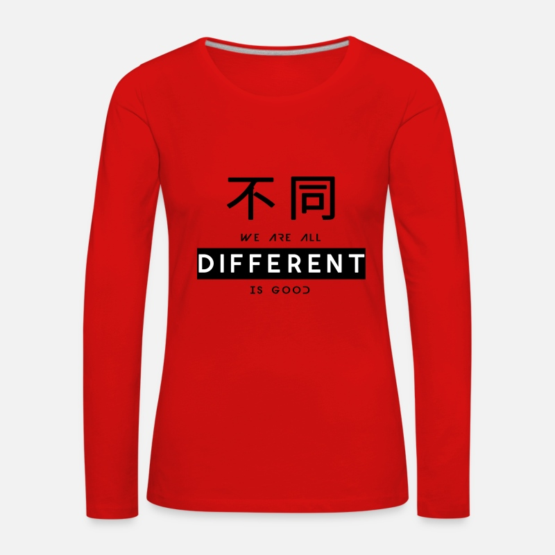 Good Mood Long Sleeve Shirts - Different is good - Women's Premium Longsleeve Shirt red