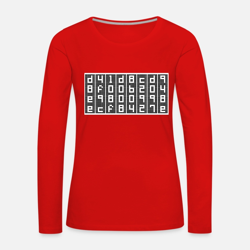 Geek Long Sleeve Shirts - Empty - MD5 - d41d8cd98f00b204e9800998ecf8427e - Women's Premium Longsleeve Shirt red