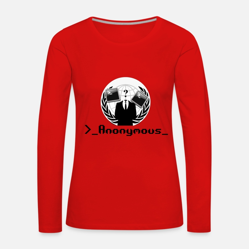 Pirate Manches longues - anonyme - T-shirt manches longues premium Femme  rouge d70a70fa13c0