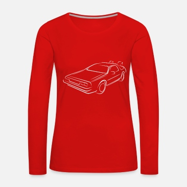 Back To The Future Sketch back to the future - Women's Premium Longsleeve Shirt