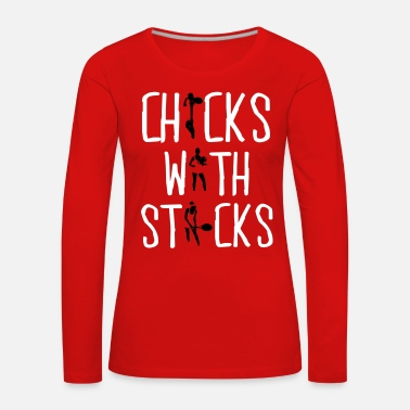 Tennis Tennis - chicks with sticks - Vrouwen Premium shirt met lange mouwen