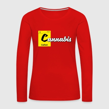 Cannabis Periodic Table Carbon - Maglietta Premium a manica lunga da donna