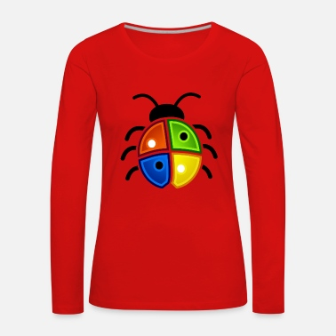 Windows Windows Ladybug - Dame premium T-shirt med lange ærmer
