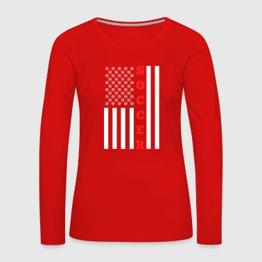 Welsh American Flag for Soccer Ball American - Women's Premium Longsleeve Shirt