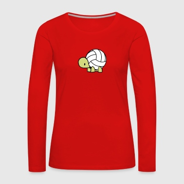 Volley turtle - Frauen Premium Langarmshirt