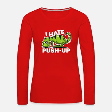 Push Up Dinosaur push up - Women's Premium Longsleeve Shirt