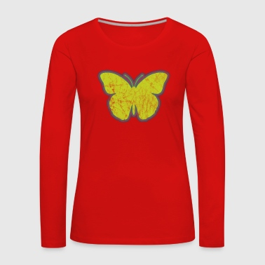 Insect Yellow Butterfly - Women's Premium Longsleeve Shirt