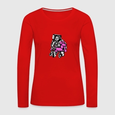 Astronaut with swimming ring - Women's Premium Longsleeve Shirt