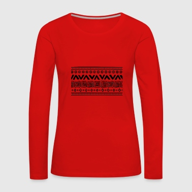 Indie tribal - T-shirt manches longues Premium Femme