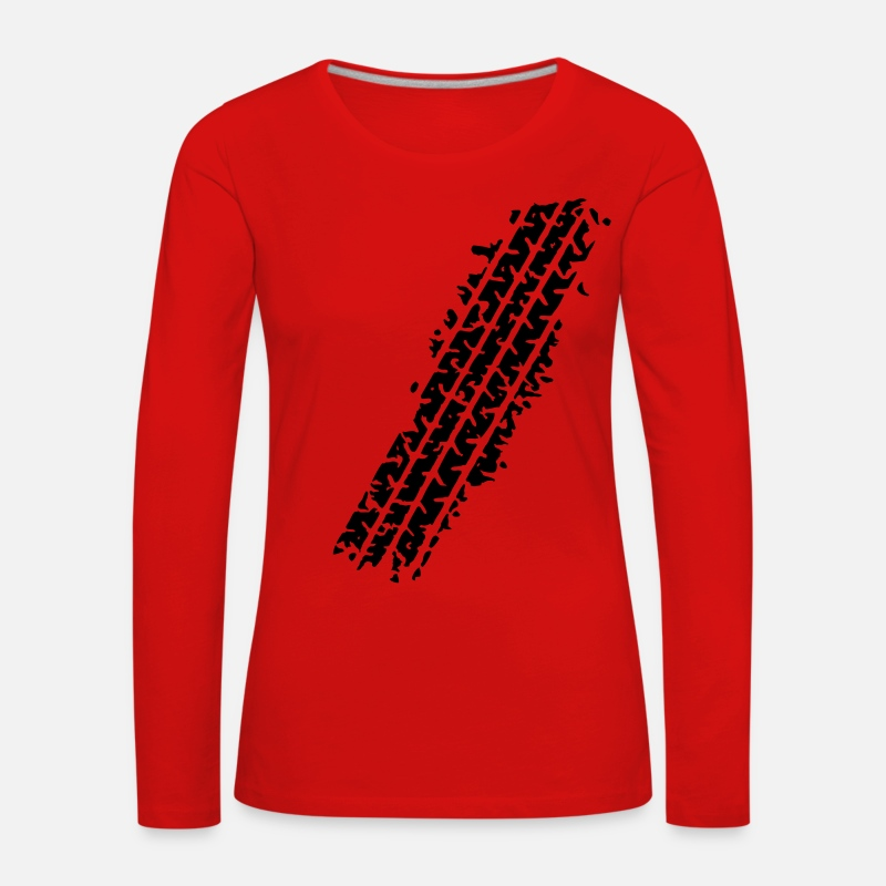 Track Long Sleeve Shirts - TYRE TRACK - Women's Premium Longsleeve Shirt red