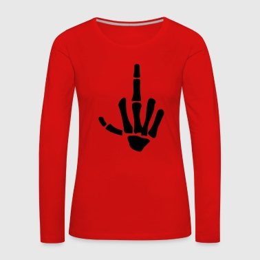 Middle Finger middle finger - Women's Premium Longsleeve Shirt