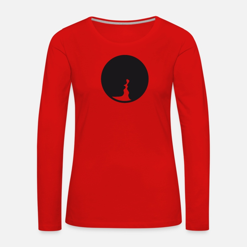 Valentine's Day Long Sleeve Shirts - Le baiser  - Women's Premium Longsleeve Shirt red
