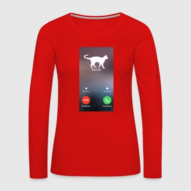 Cat Phone Call Call - Women's Premium Longsleeve Shirt