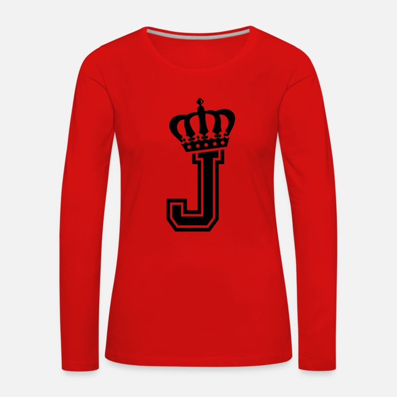 Johannes Long Sleeve Shirts - Letter J - Women's Premium Longsleeve Shirt red