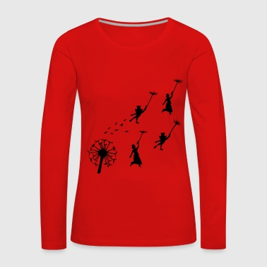 Mary Poppins flying Dandelion - Camiseta de manga larga premium mujer