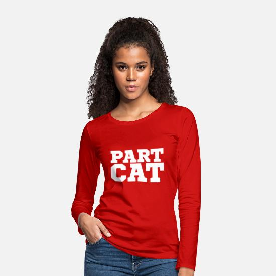 Cat Lady Long Sleeve Shirts - Cat friend Cats old pictures hangover gift - Women's Premium Longsleeve Shirt red