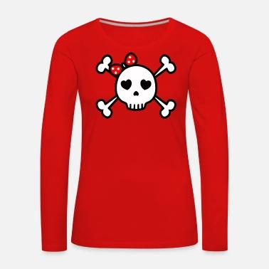 1e8b222f9379 söt skalle söt rockabilly skalle Premium T-shirt dam | Spreadshirt