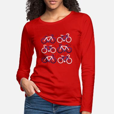 Long CYCOLOGIST SHIRT Race bike race - Women's Premium Longsleeve Shirt