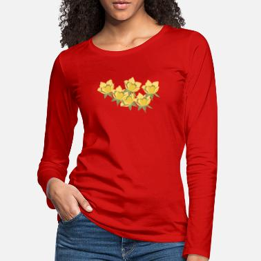 Flora Flower design Yellow flowers - Women's Premium Longsleeve Shirt