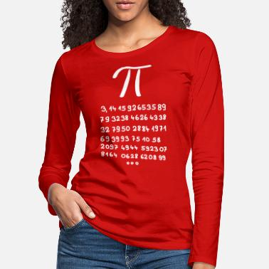 Decimal Pi with 60 decimal places - Women's Premium Longsleeve Shirt