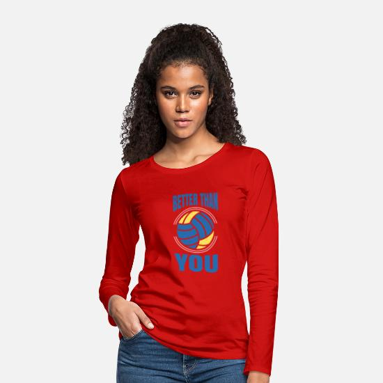 Play Long sleeve shirts - volleyball - Women's Premium Longsleeve Shirt red