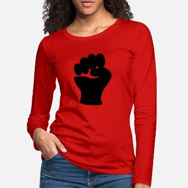 Clip Art Fist Power Hand Clip Art - Women's Premium Longsleeve Shirt