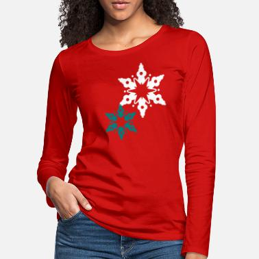 Snow Crystal A snow crystal - Women's Premium Longsleeve Shirt