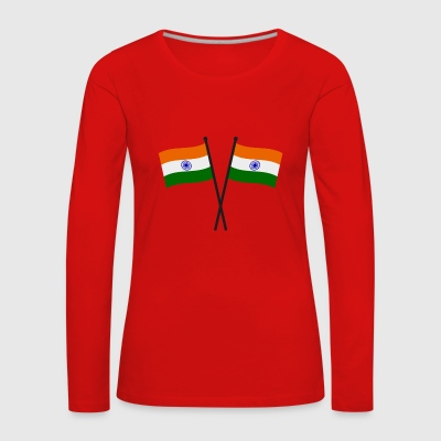 india flag - Women's Premium Longsleeve Shirt