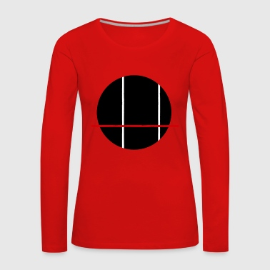 BLACK - Red - White - Women's Premium Longsleeve Shirt