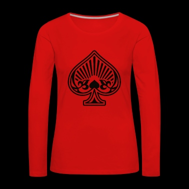 As Piques Poker Cards - Women's Premium Longsleeve Shirt