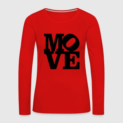 move Homage to Robert Indiana move black inside - Women's Premium Longsleeve Shirt