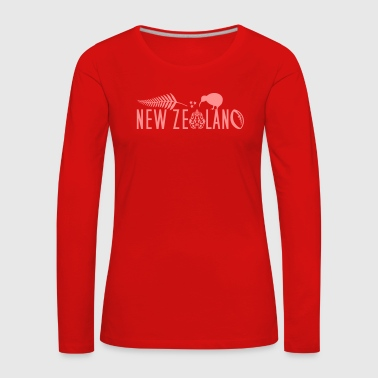 New Zealand Kiwi Sailing Rugby Maori - Women's Premium Longsleeve Shirt