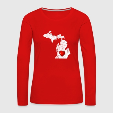 Proud to be From Michigan Distressed - Women's Premium Longsleeve Shirt