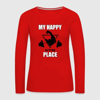 My Happy Place Gym T-shirt Gift - Långärmad premium-T-shirt dam