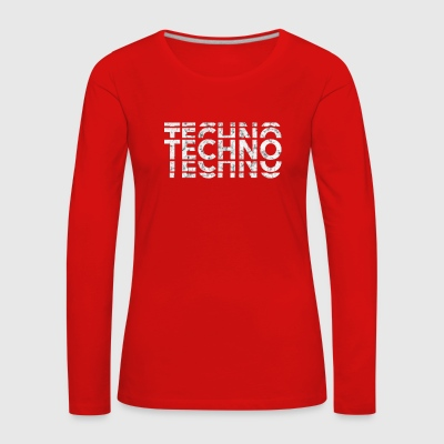 Techno Music Bass Shirt - Frauen Premium Langarmshirt