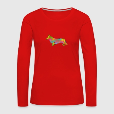 Welsh Corgi Cardigan Multicolored - Women's Premium Longsleeve Shirt