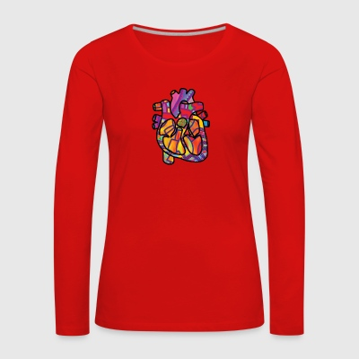 Real Energetic Heart - Women's Premium Longsleeve Shirt