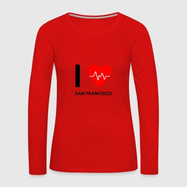I Love San Francisco - I love San Francisco - Women's Premium Longsleeve Shirt