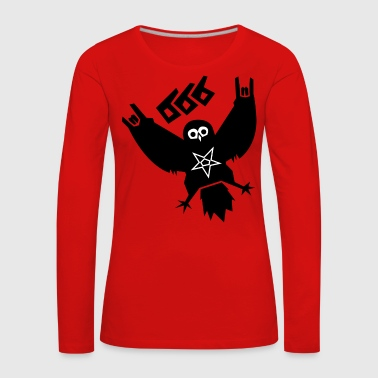 Black Metal Owl - Women's Premium Longsleeve Shirt