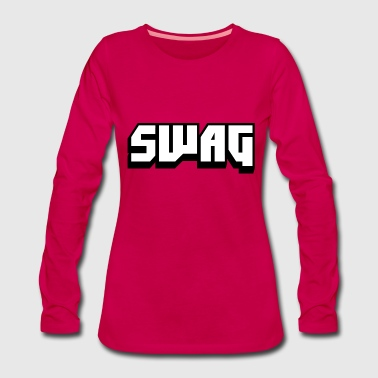 SWAG Black and White - Women's Premium Longsleeve Shirt