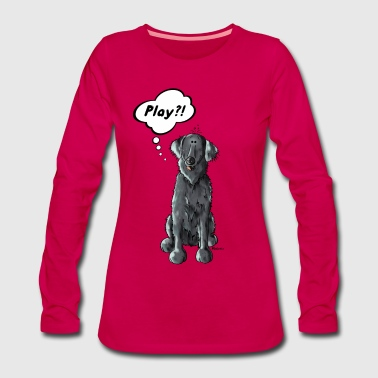 Flat Coated Retriever Play  - Frauen Premium Langarmshirt